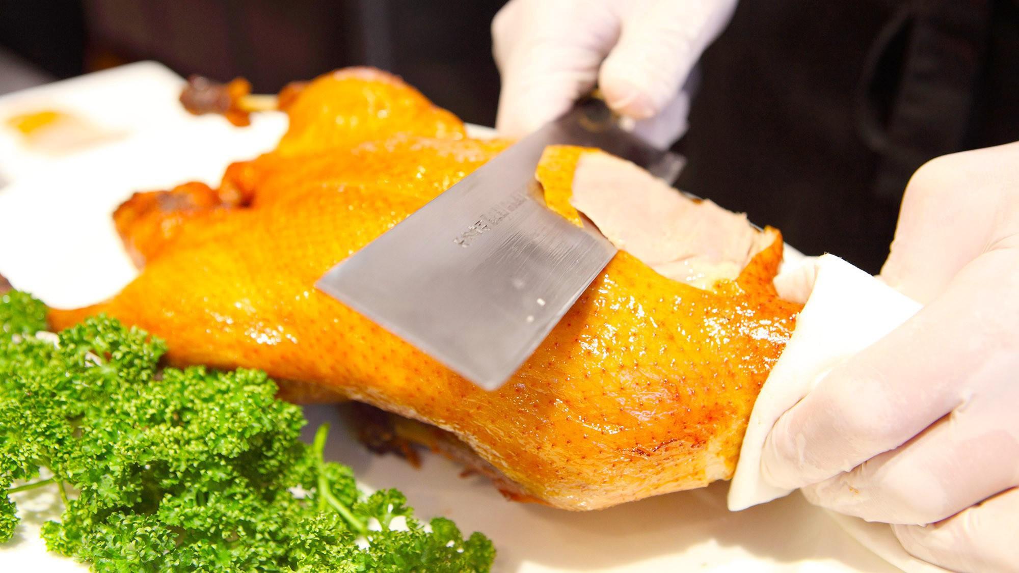 ◇オリエンタルガーデン館レストラン<万里>出来立ての北京ダック【ライブクッキング】