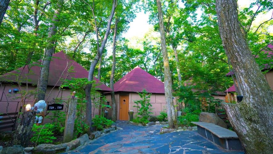 ◇【外観/ふくろうの森】大自然を感じられる森の中の可愛い戸建て風コテージ