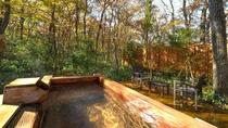 ◇【ふくろうの森】露天風呂付洋室(一例)/源泉かけ流しの天然温泉が出る森の中のコテージ