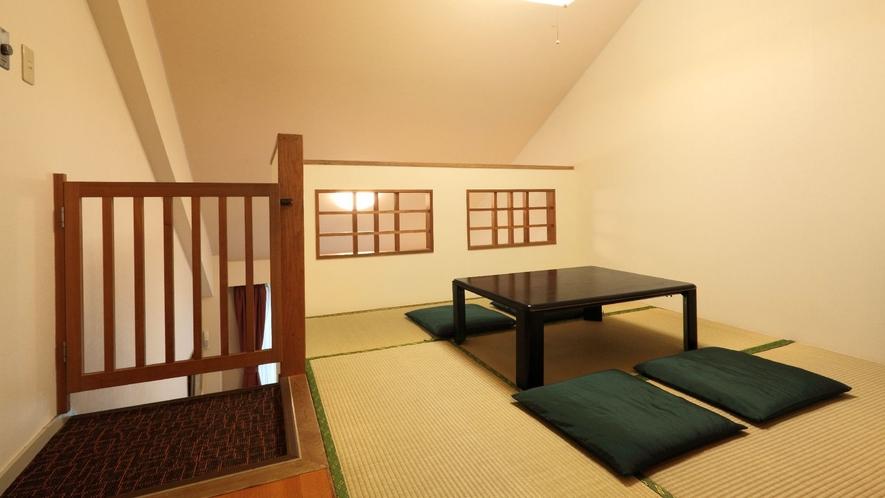 ◇【フォレストヴィラ】メゾネット和洋室(一例)/1階が洋室、2階が和室の家族に人気のお部屋