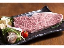 【黒毛和牛ステーキ】