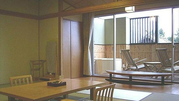 展望由布岳側 露天風呂付和室(12.5畳+踏込み2畳)*禁煙