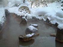 水車露天風呂(冬)