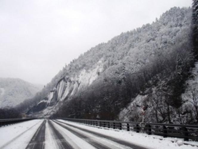 天人峡への道