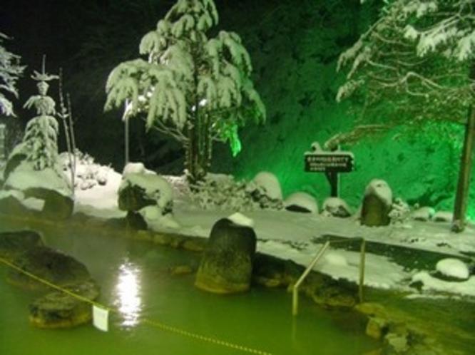 冬の露天(夜)