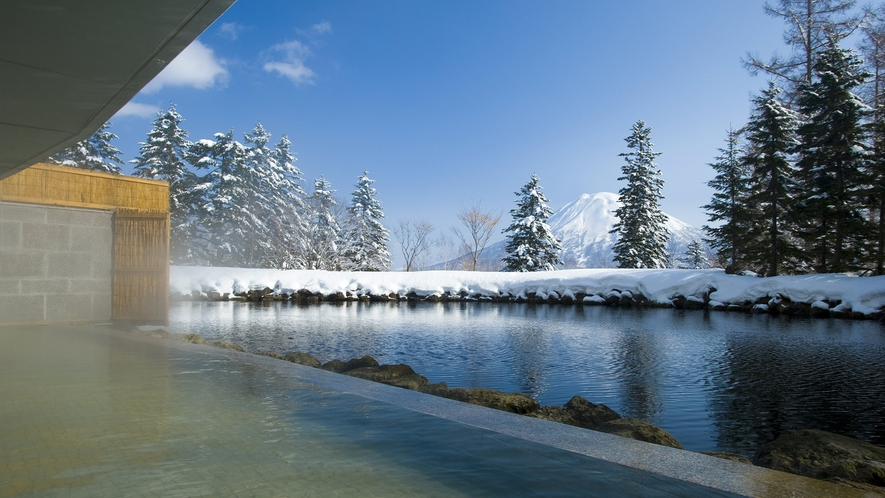 【源泉かけ流し温泉(冬)】