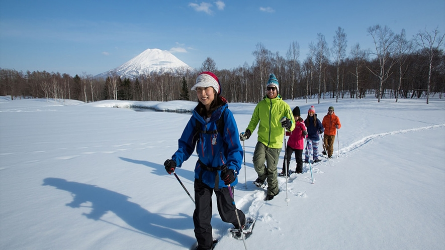 スノーシュー 雪景色の中を散策