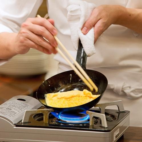 朝食実演コーナー
