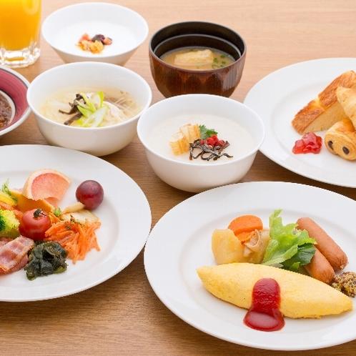 中島屋自慢の朝食♪実演シェフの手作りオムレツ