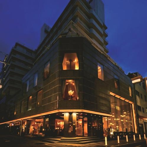 【外観】夜 中島屋グランドホテル