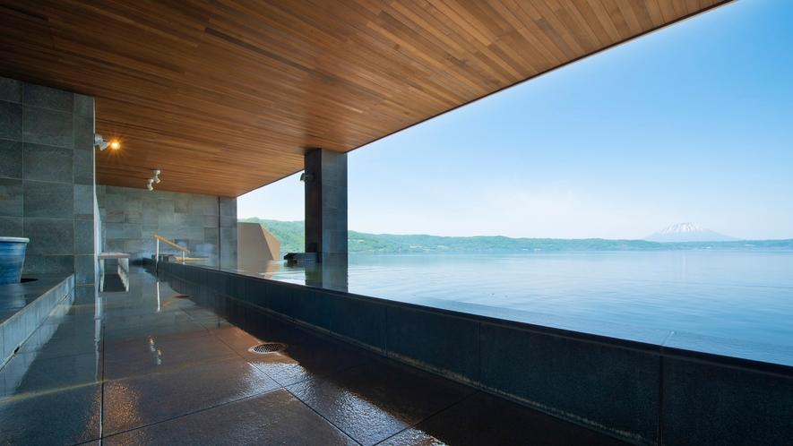 【星の湯】洞爺湖が目線に広がるインフィニティ露天風呂