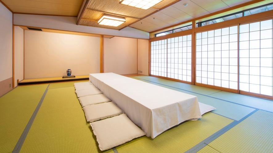 【宴会場】浦島 8~15名様の食事に対応できる宴会場。※椅子・テーブル形式のご相談も承ります