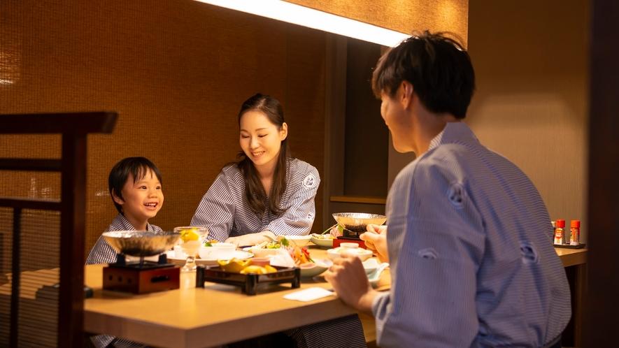 【旬彩和房ななかまど】家族で和食膳を堪能