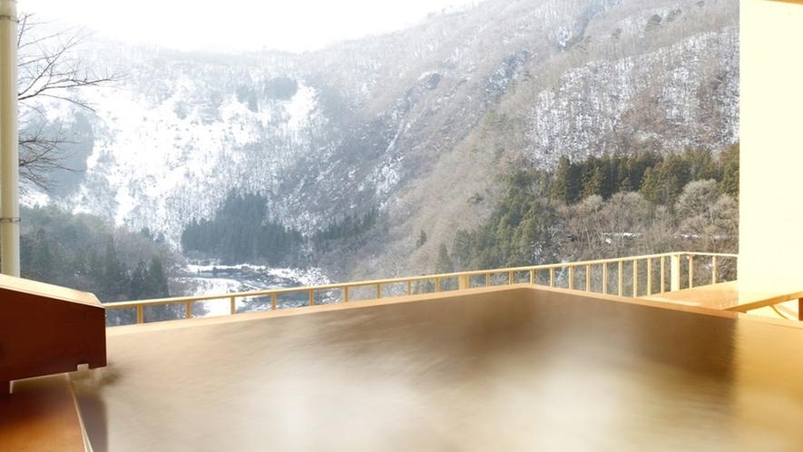 冬~露天風呂付客室(和洋室A・B・ツイン・ダブル)からの景観