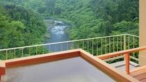 露天風呂付客室(和洋室A・B) 露天風呂からの渓谷の眺め