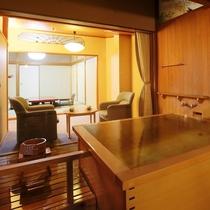 露天風呂付客室(和室) お風呂は源泉100%掛け流し