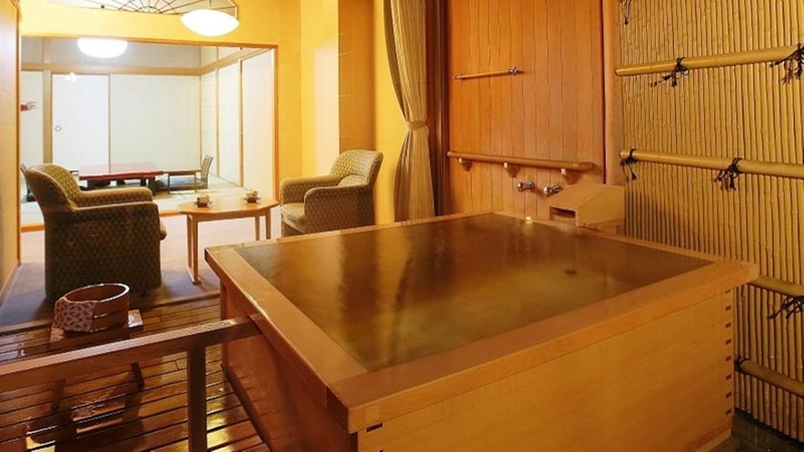露天風呂付客室(和室) お風呂は源泉掛け流し