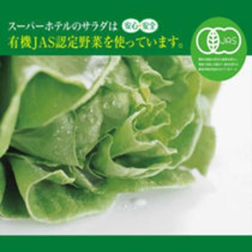 有機JAS認定の野菜を使ったサラダをぜひご賞味下さい