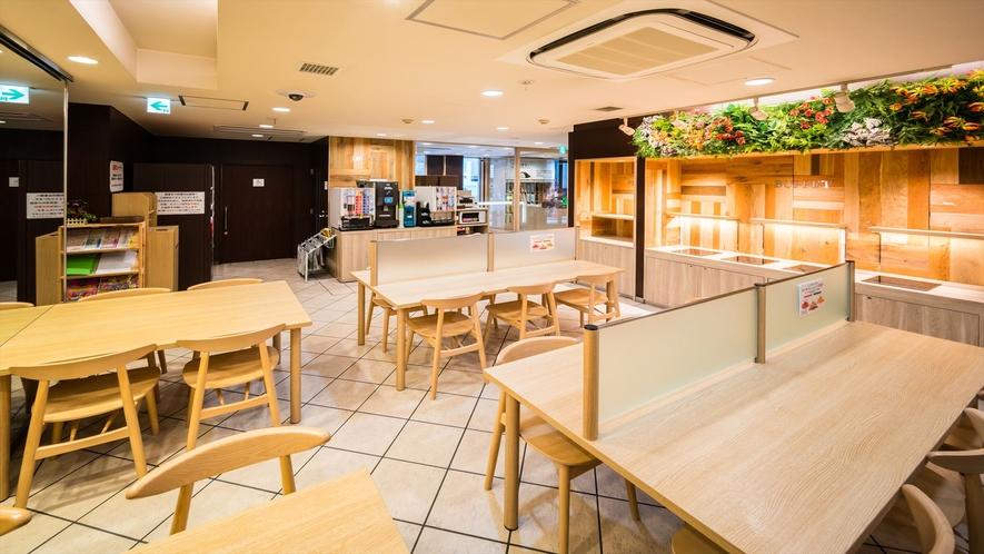 【ロハスラウンジ】朝は朝食会場になります。