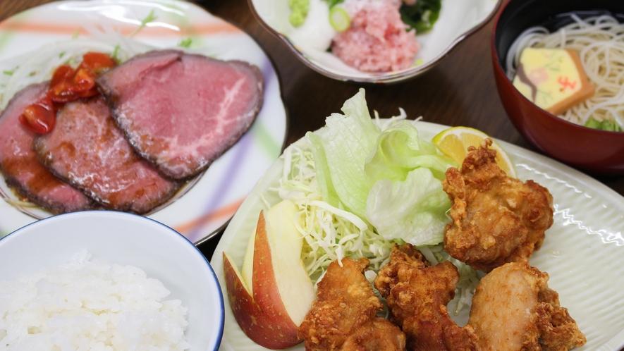 *【夕食一例】男性もお腹いっぱいになる日替わり定食