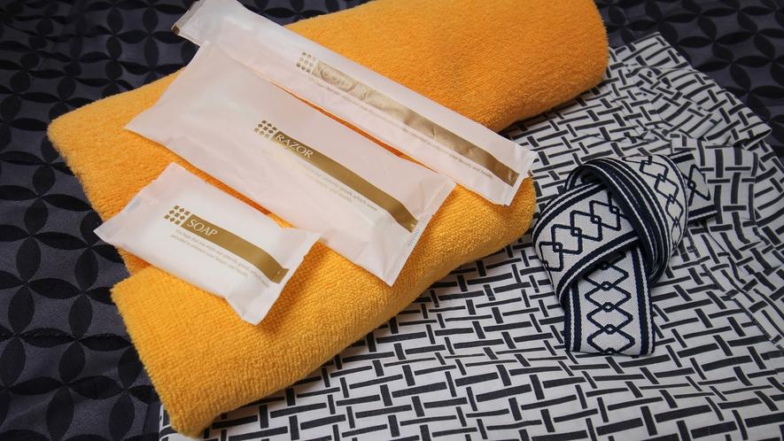 *【客室一例】浴衣、タオル、アメニティ
