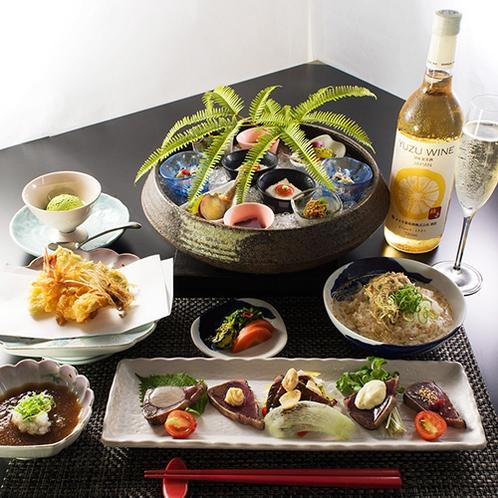 ■夕食コース料理一例