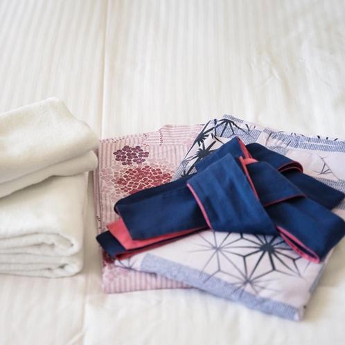 ■客室アメニティ(タオル・浴衣)
