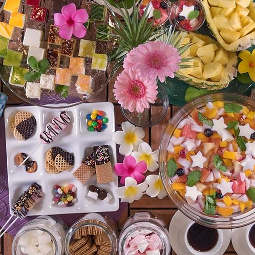 ■GW・夏限定 和洋サマービュッフェ デザートも充実
