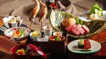 *地元の素朴な食材を自由な発想でアレンジしたお料理の品々