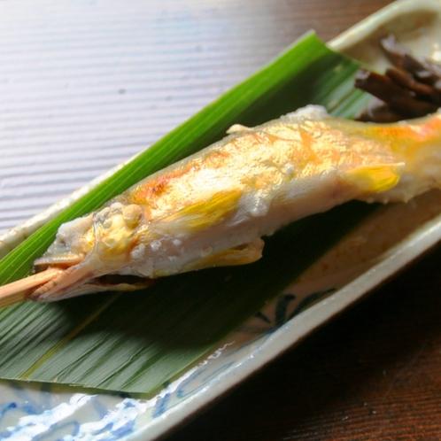 【夕食】一例。清流の国、岐阜の川魚はひと味違う!