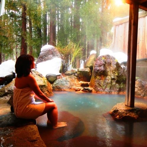 【温泉】貸切露天(もみじの湯)大自然と一体になるような開放感を、ファミリーや大切な人と貸切で。