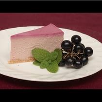 山里の恵みの果実くろすぐりのチーズケーキ