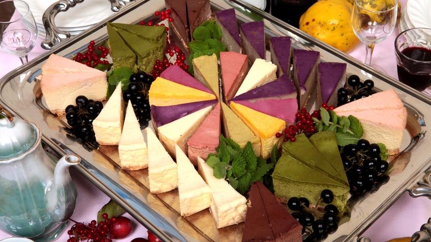 山里の恵みの果実チーズケーキ
