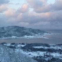 青森の冬景色