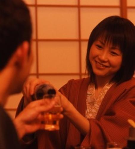 部屋食にて乾杯♪