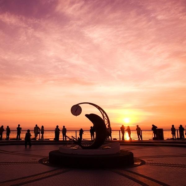 ノシャップ岬の夕陽
