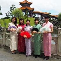 燕趙園:チャイナドレスのレンタル
