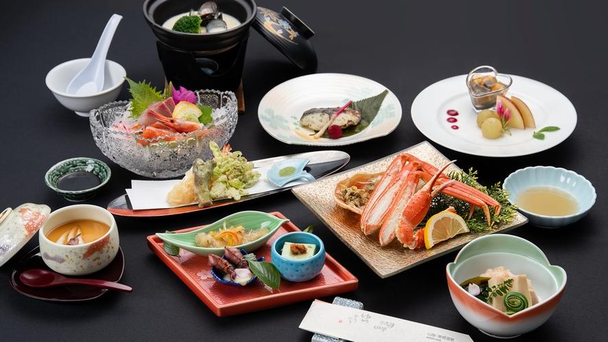 *【春会席】春季限定・季節先取りの華やかお料理と蟹をお楽しみいただけます。