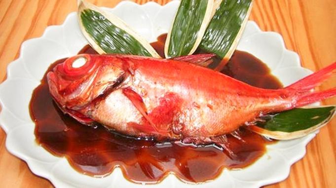 【金目鯛付き】大きな金目鯛を丸ごと一匹!豪華姿煮付きディナー/2食付≪赤ちゃん・お子様歓迎≫
