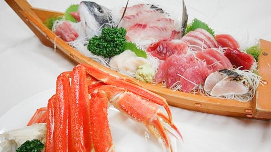 *[別注料理/蟹と舟盛り]豪華海の幸を堪能したい方に。ご予算に応じて承ります。