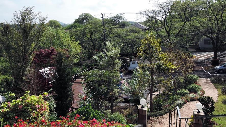 *[お庭]緑豊かな富士箱根伊豆国立公園内の自然を満喫できるロケーション。