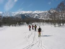 歩くスキーハイキング