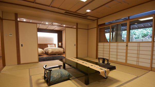 「銀泉」露天風呂付スイート404号室(和洋室61平米)