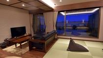 「金泉」露天風呂付スイート411号室(和洋室 54平米4階)