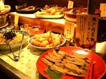 《ご朝食》岡山名物一例「小魚たっぷりのじゃこ天」