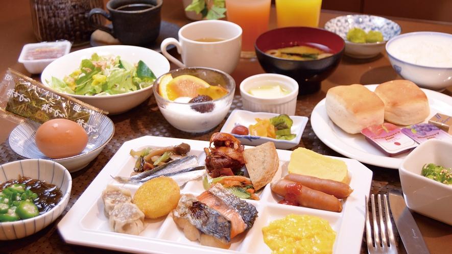 【朝食】40種類以上のメニューがあじわえる朝食ビュッフェ