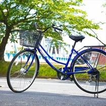 レンタルサイクル(3台)を【無料】でご用意。広大な千波湖も爽快にサイクリング~♪