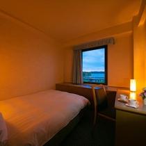 ■ダブル15平米■ベッド幅140cmのダブルベッド1台のお部屋。