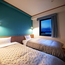 ◆リニューアツツイン15平米◆2人でもゆったり休める2つのベッド