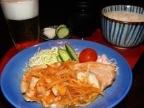 【まぐろや はなの夢】生姜焼き定食